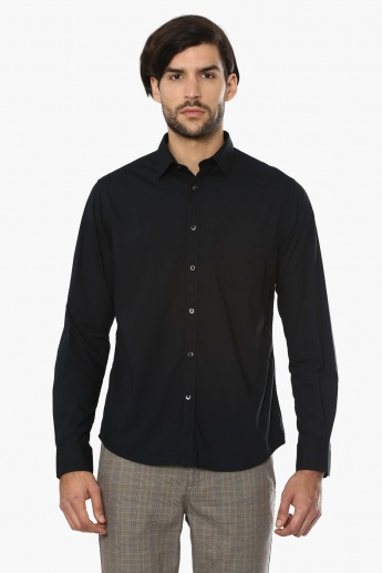 INDIAN TERRAIN Solid Full Sleeves Shirt