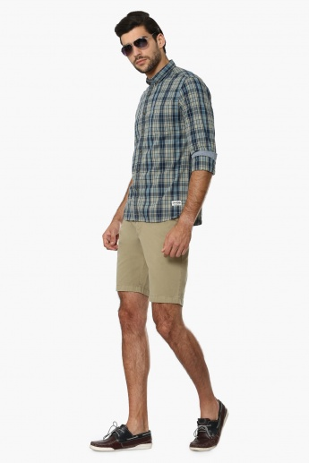 INDIAN TERRAIN Pocketed Slim Fit Shorts