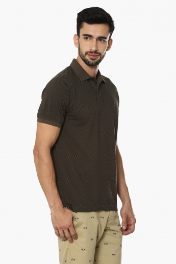 INDIAN TERRAIN Printed Polo Neck T-Shirt