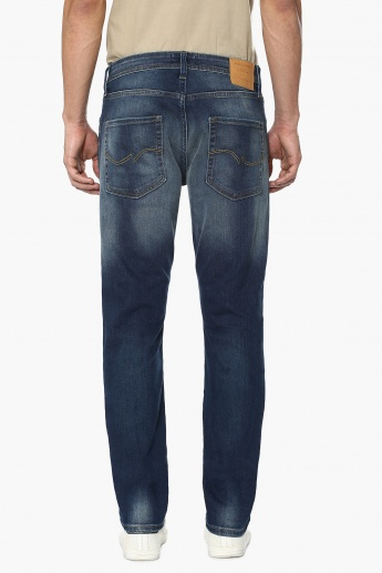 JACK & JONES Stonewashed Whiskered Jeans