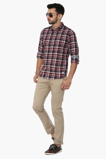 FLYING MACHINE Plaid Check Full Sleeves Shirt