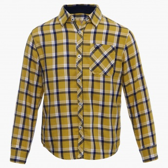 ALLEN SOLLY Checks Print Full Sleeves Shirt