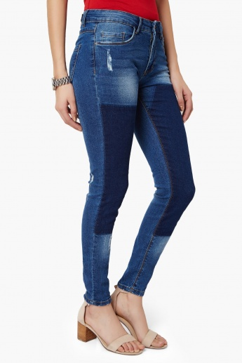 ONLY Skinny Patchwork Jeans