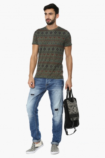 JACK & JONES Stonewashed Distressed Jeans