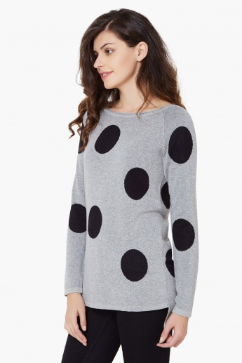 ONLY Polka Dot Flat Knit Tunic