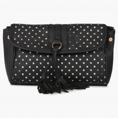 GINGER Perforated Tasselled Sling Bag | Sling Bags | Women Bags ...
