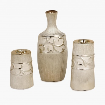 Brit-Fantasy Vase And Tealight Holders