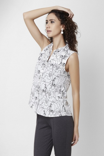 VERO MODA Contemporary Print Top
