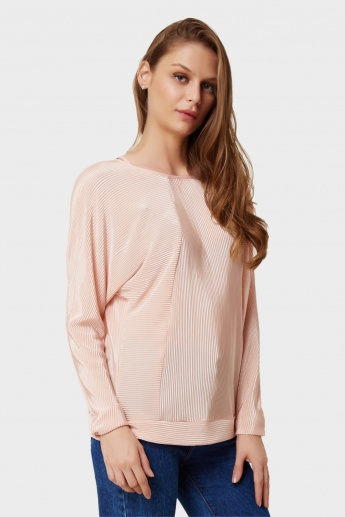 VERO MODA Ribbed Texture Solid Top