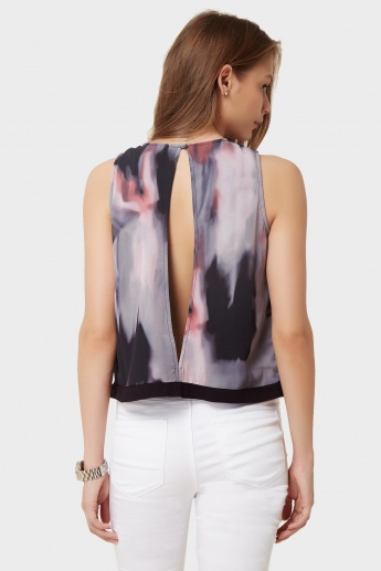 VERO MODA Watercolour Print Sleeveless Top