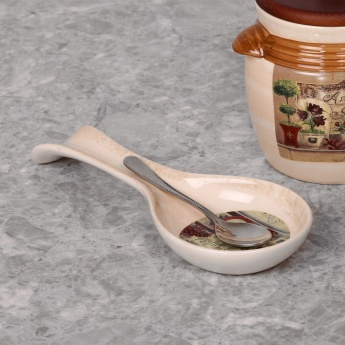 HOME CENTRE Garden Banquet Dolomite Spoon Rest