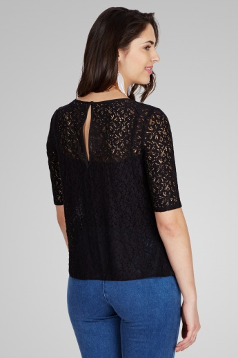ONLY Solid Lace Top