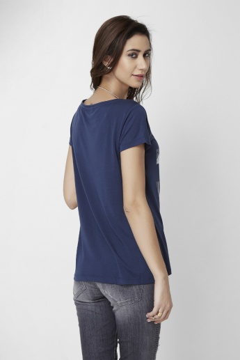 ONLY Round Neck Solid T-Shirt