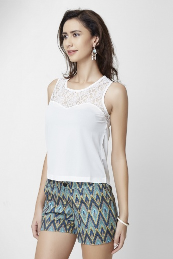 ONLY Solid Round Neck Sleeveless Top