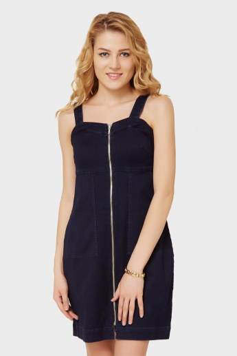 ONLY Zip Up Pocketed Dress