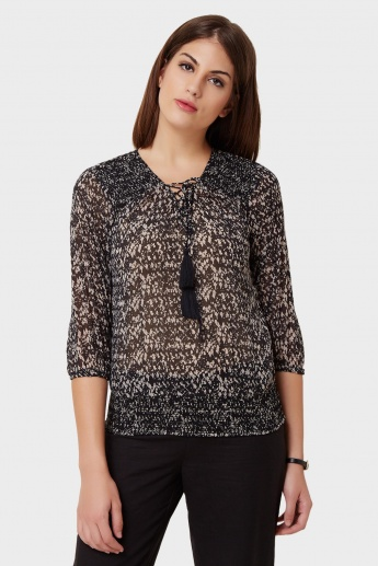 ONLY Tasselled Knot Neck Top