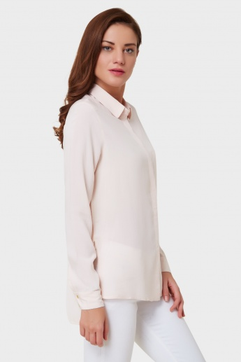 ONLY Solid Concealed Placket Shirt