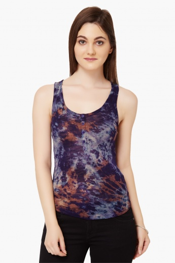 ONLY Printed Scoop Neck Tank Top