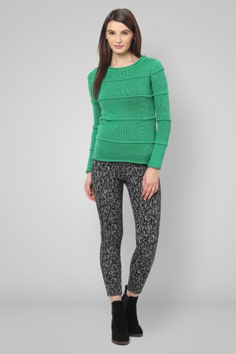 UNITED COLORS OF BENETTON Solid Round Neck Sweater