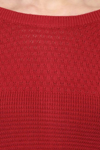 UNITED COLORS OF BENETTON Round Neck Back Zipper Sweater