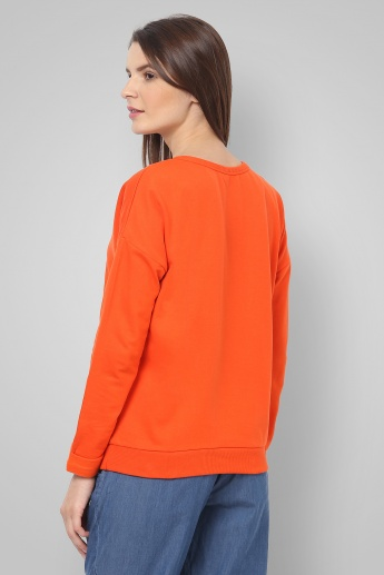 UNITED COLORS OF BENETTON Drop Sleeves Pullover