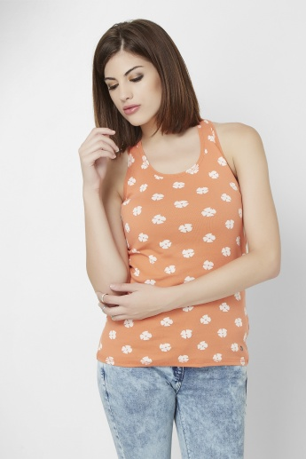 UNITED COLORS OF BENETTON Printed Sleeveless Top