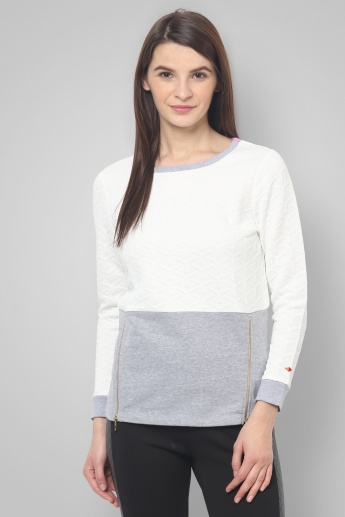 UNITED COLORS OF BENETTON Zip Detail Pullover