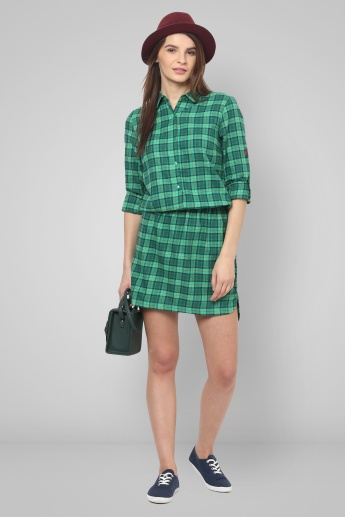 UNITED COLORS OF BENETTON Checked Shirt Dress