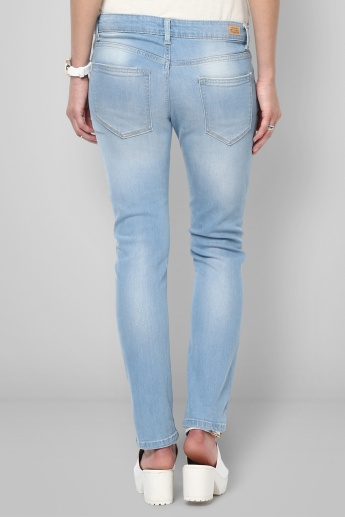 UNITED COLORS OF BENETTON Distressed Light Wash Jeans