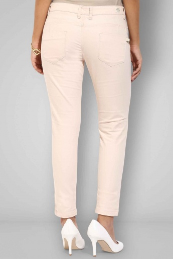UNITED COLORS OF BENETTON Solid Full Length Slim Fit Trousers