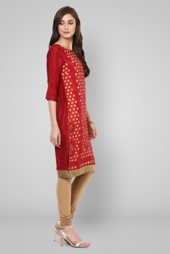 W 3/4th Sleeves Printed Kurti