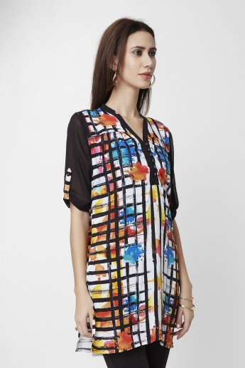 AND Printed V-Neck Tunic