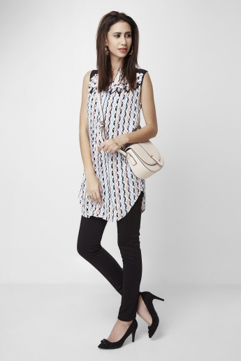 AND Printed Sleeveless Tunic