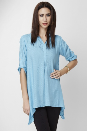 AND Solid Hanky Hem Top