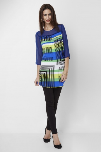 AND Geometric Printed Tunic