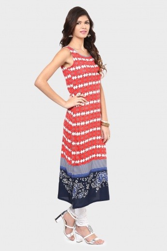 W Printed Sleeveless Kurta