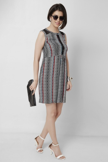 AND Printed Round Neck Sleeveless Dress