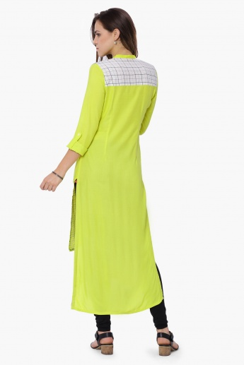 W Printed Button-Through Hi-Low Kurta