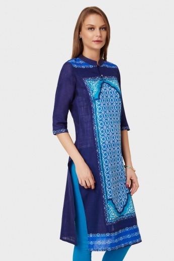 AURELIA Straight Cut Printed Kurti