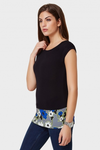 UNITED COLORS OF BENETTON Floral Band Top