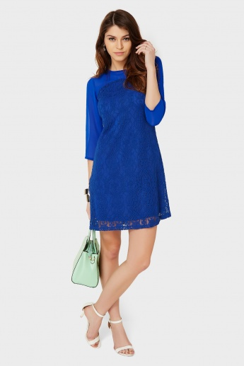 AND Lace Overlay Dress