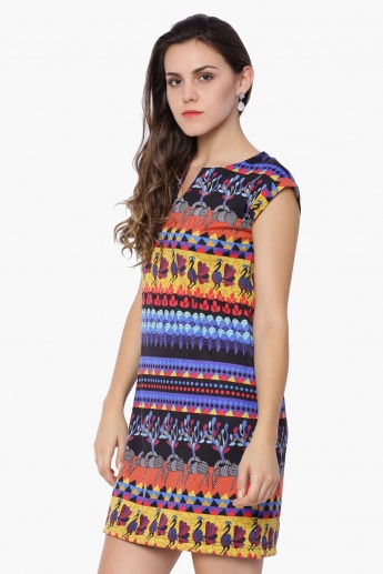 GLOBAL DESI Printed Tropical Dress