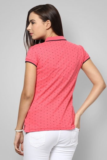 BOSSINI Polo Neck Printed T-Shirt