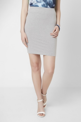 BOSSINI Solid Knitted Short Skirt
