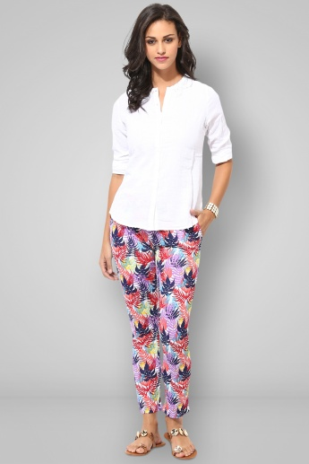 BOSSINI Printed Full Length Slim Fit Pants