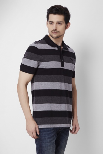 PUMA Striped Half Sleeves Polo T-Shirt