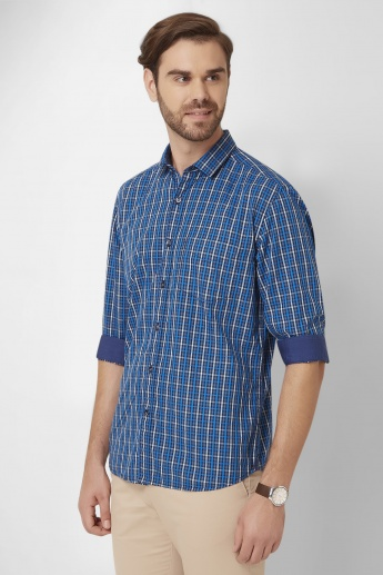 CODE Funky Checks Roll-Up Sleeves Shirt