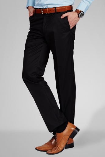ARROW Slim Fit Formal Flat Front Trousers