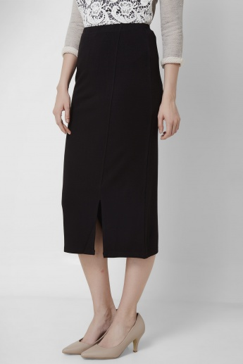 AND Solid Midi Skirt