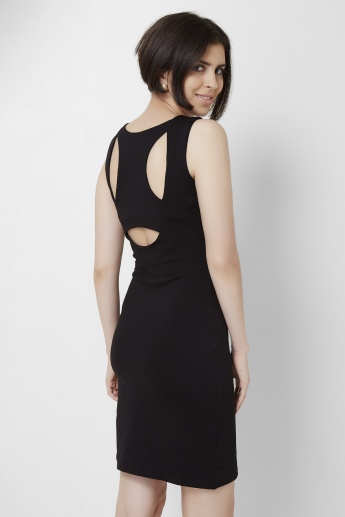 AND Solid Cut Out Back Dress